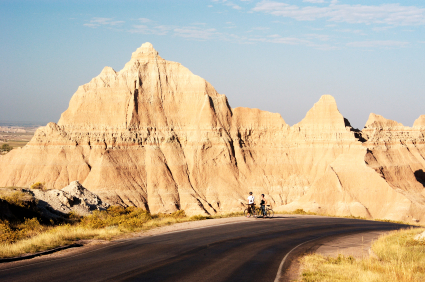 Badlands National Park, biking, scenic byway, bike