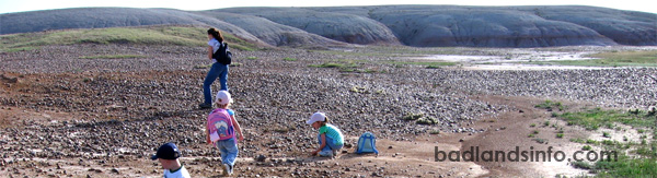Rock collecting in the Badlands